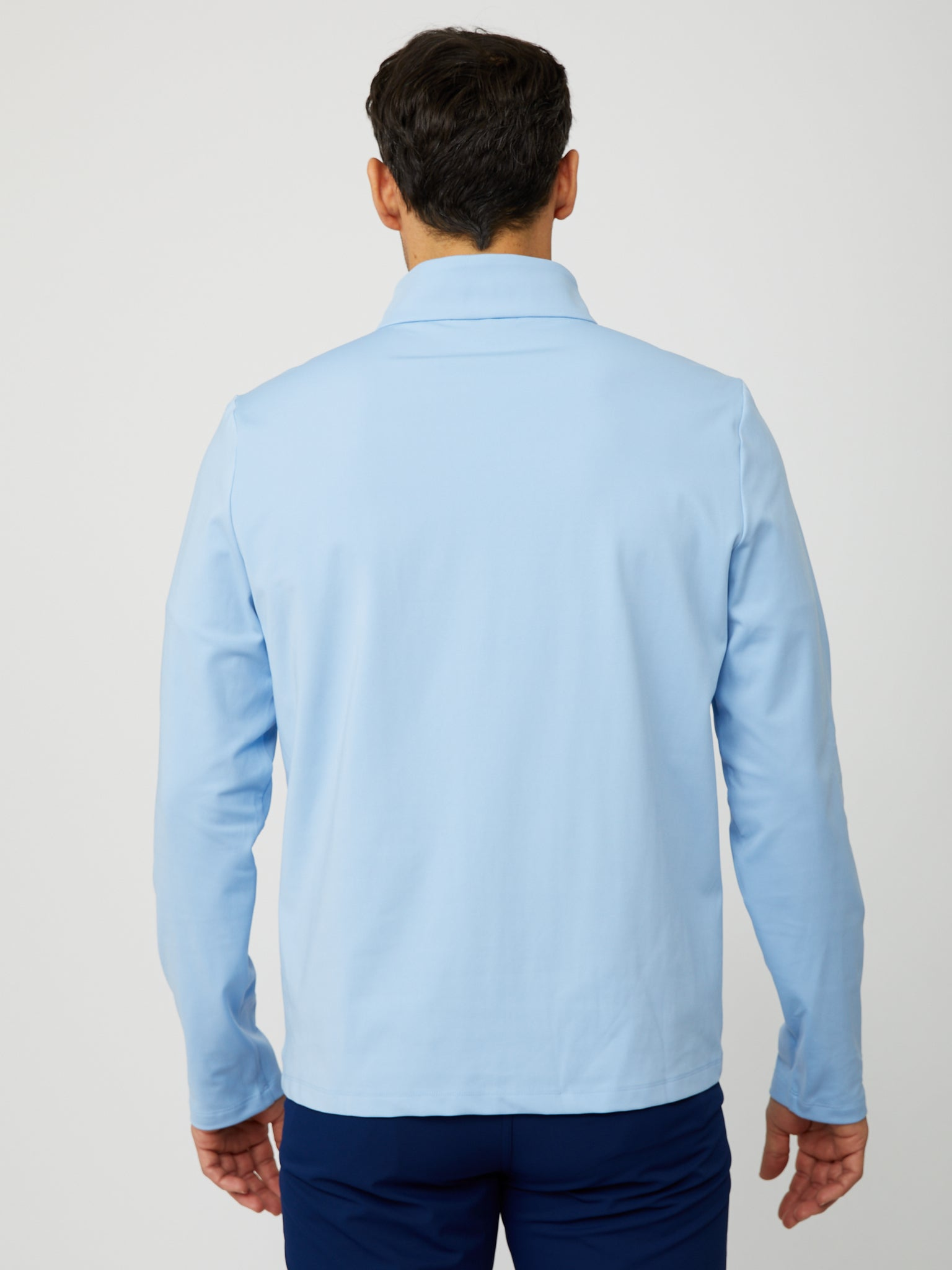 Costa Quarter Zip in Placid Blue