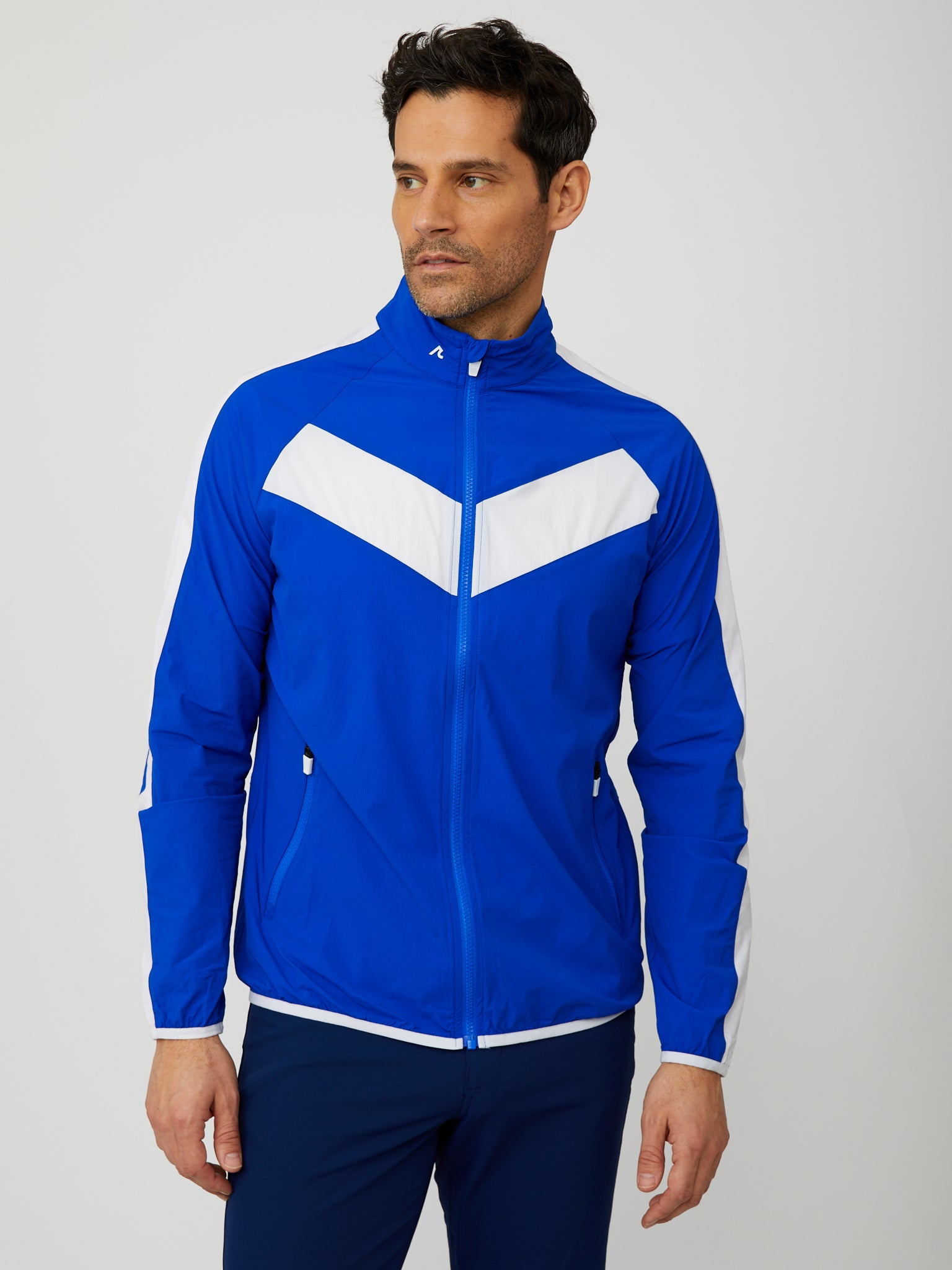 Conrad Windbreaker in Reflex Blue/White