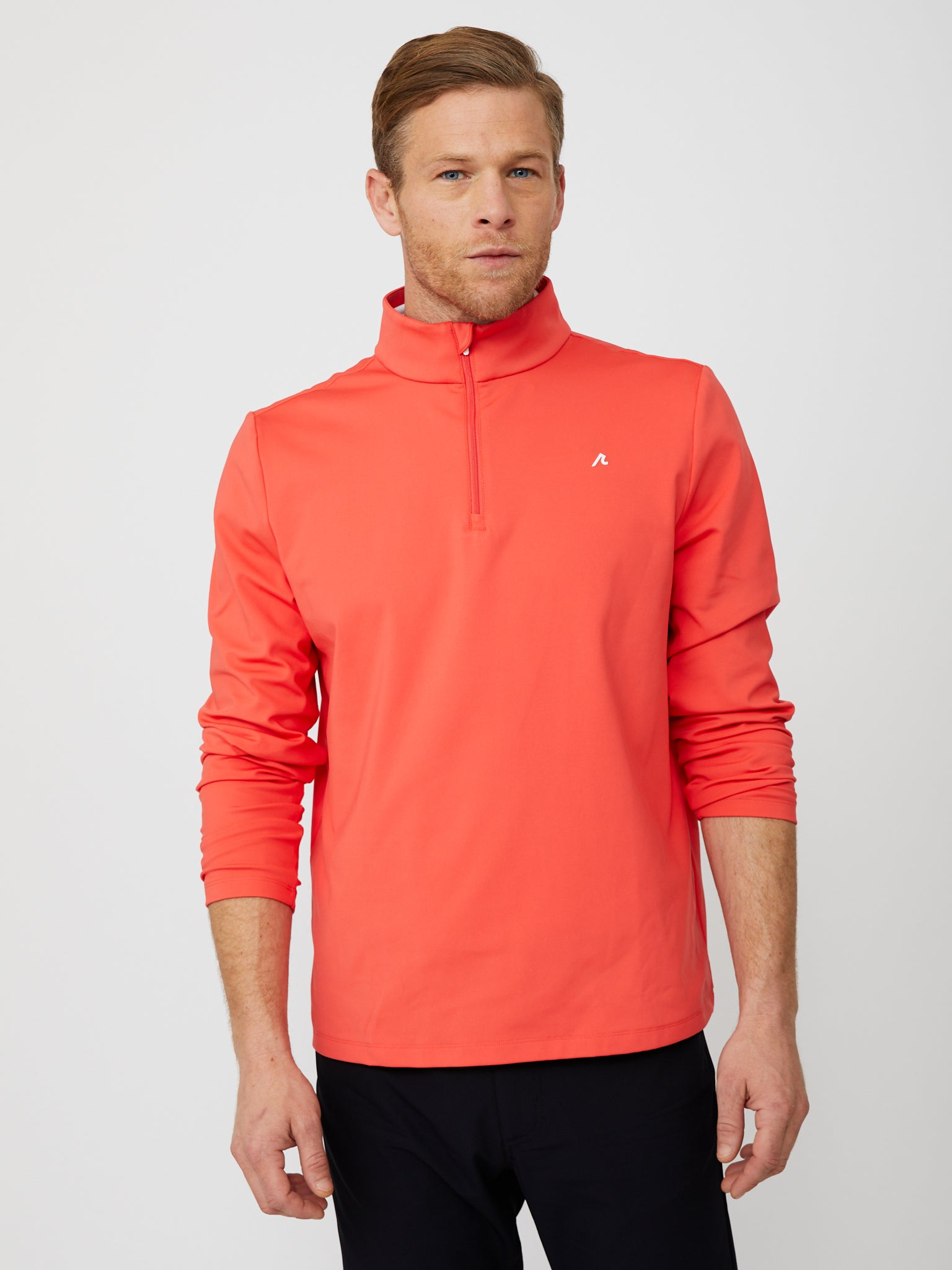 Costa Quarter Zip in Cayenne