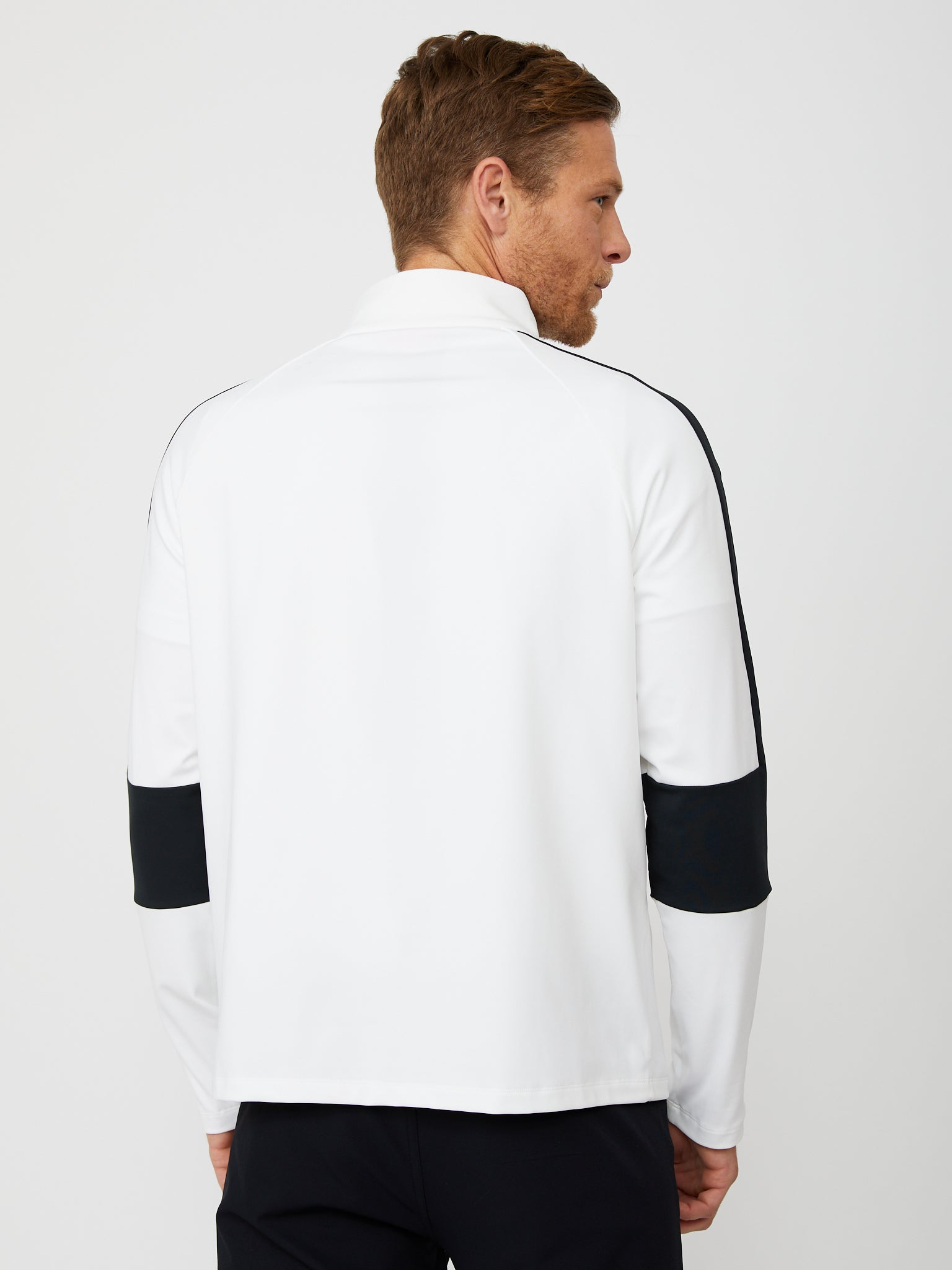 Fowler Quarter Zip in White/Black