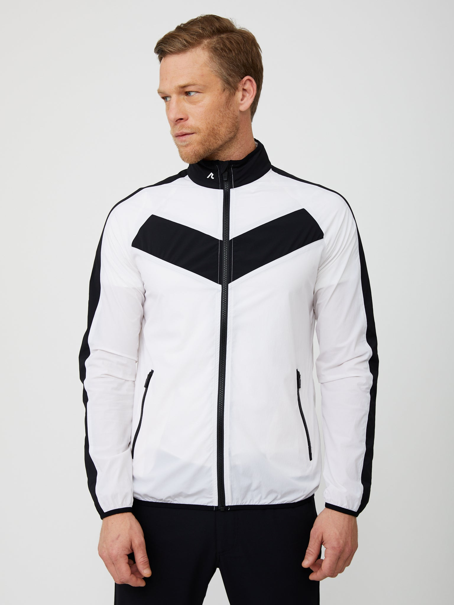 Conrad Windbreaker in White/Black