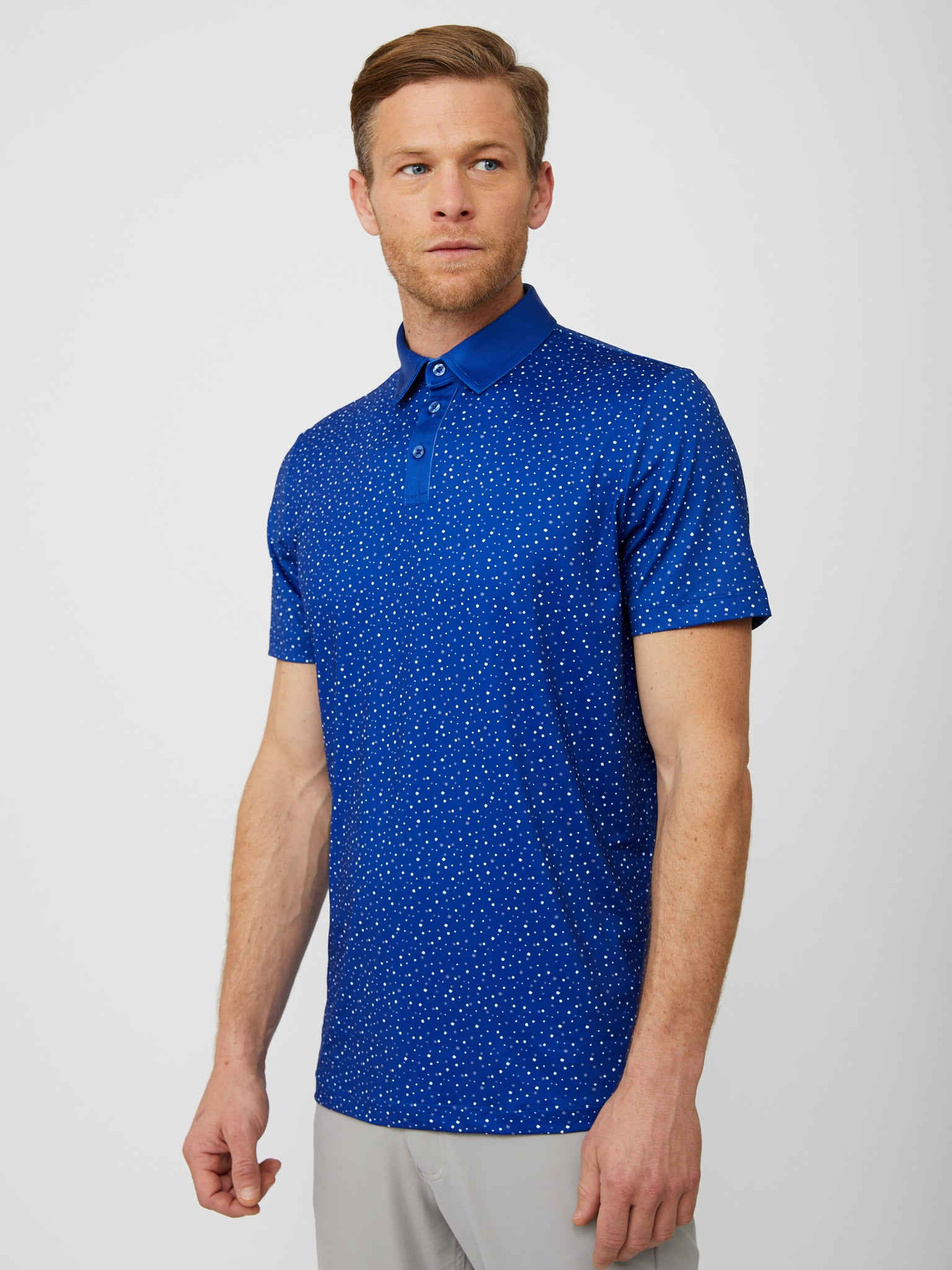 Upton Polo in Reflex Blue/Multi