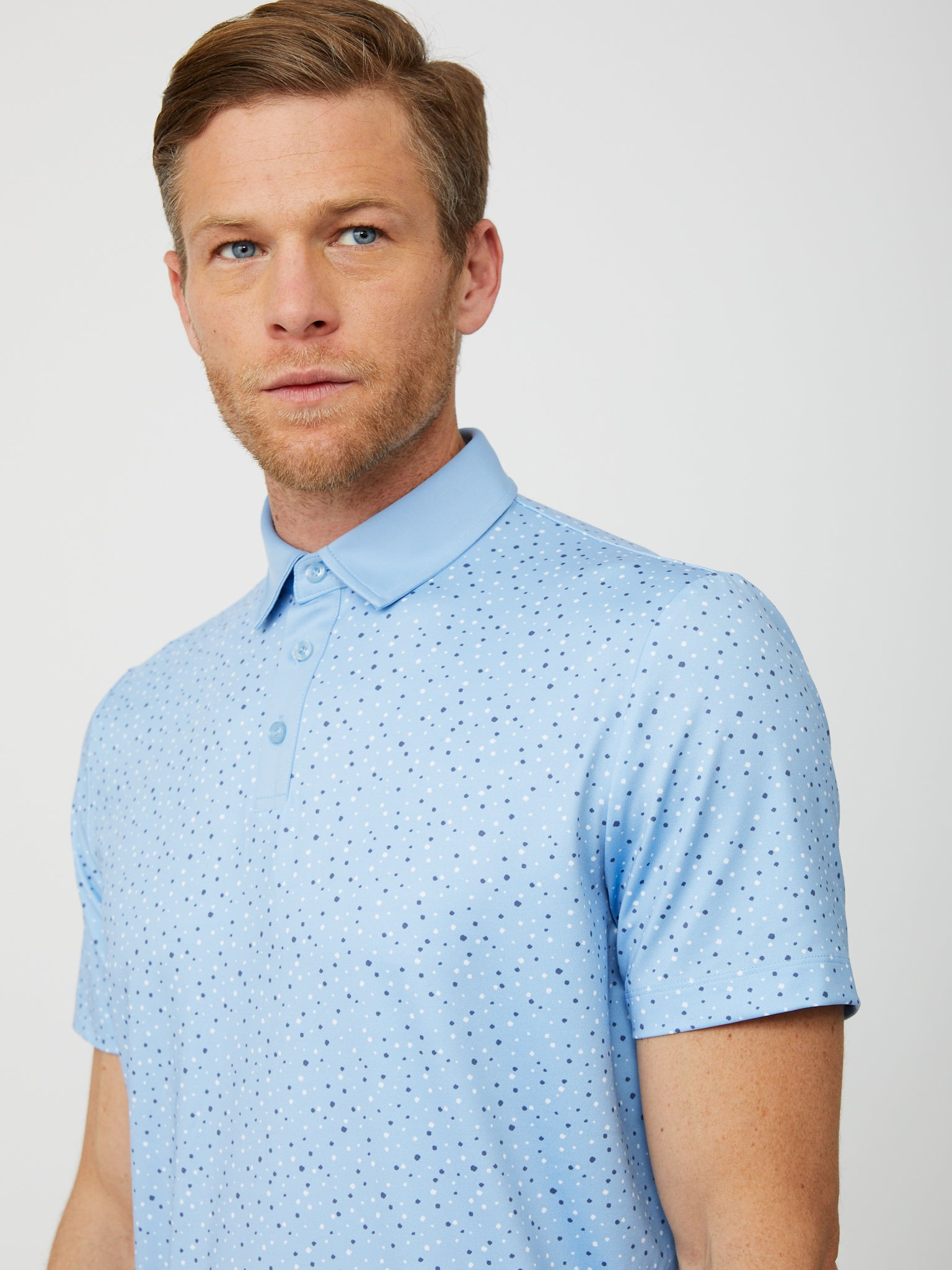 Upton Polo in Placid Blue/Multi