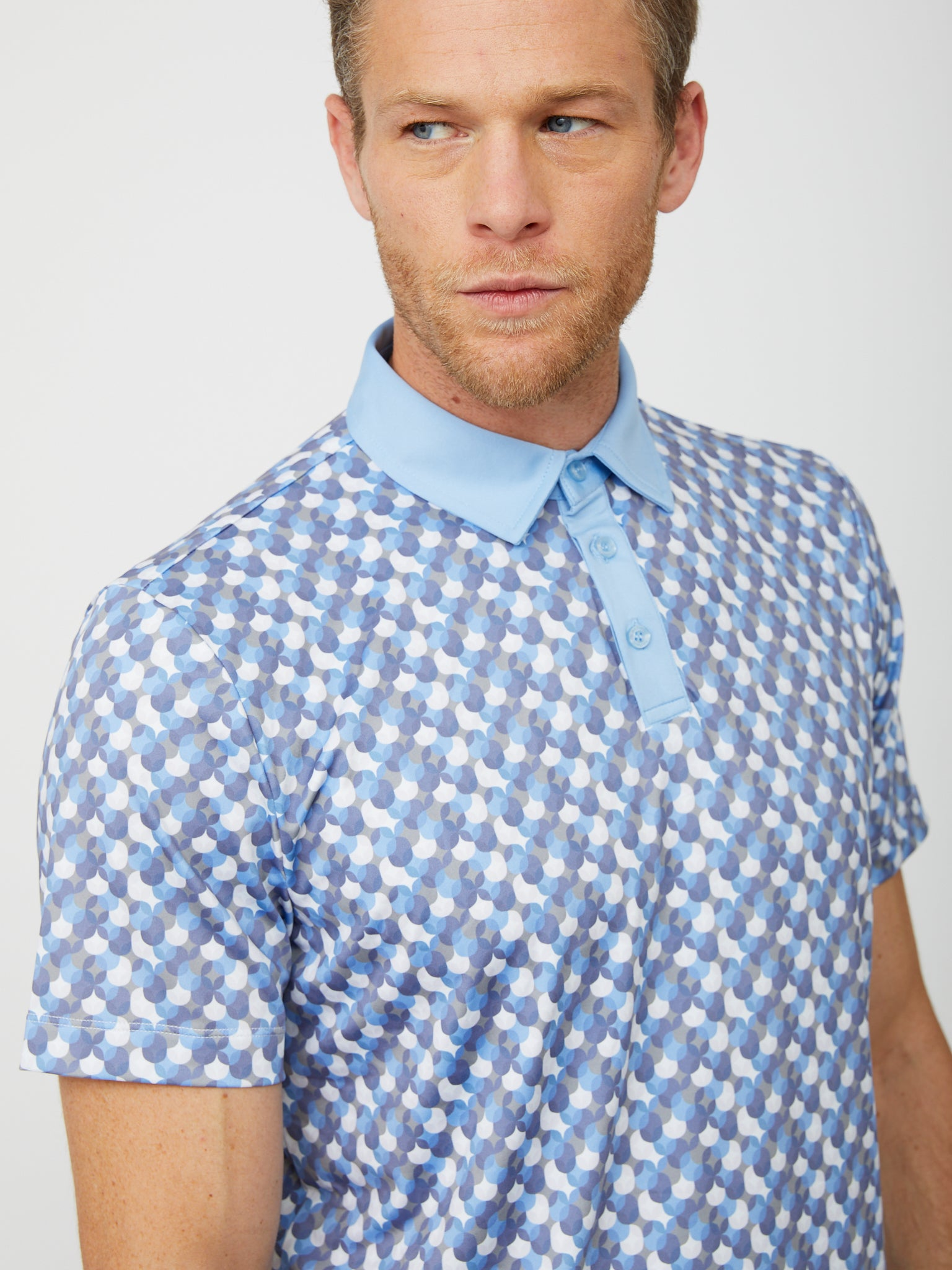Exeter Polo in Placid Blue/Multi