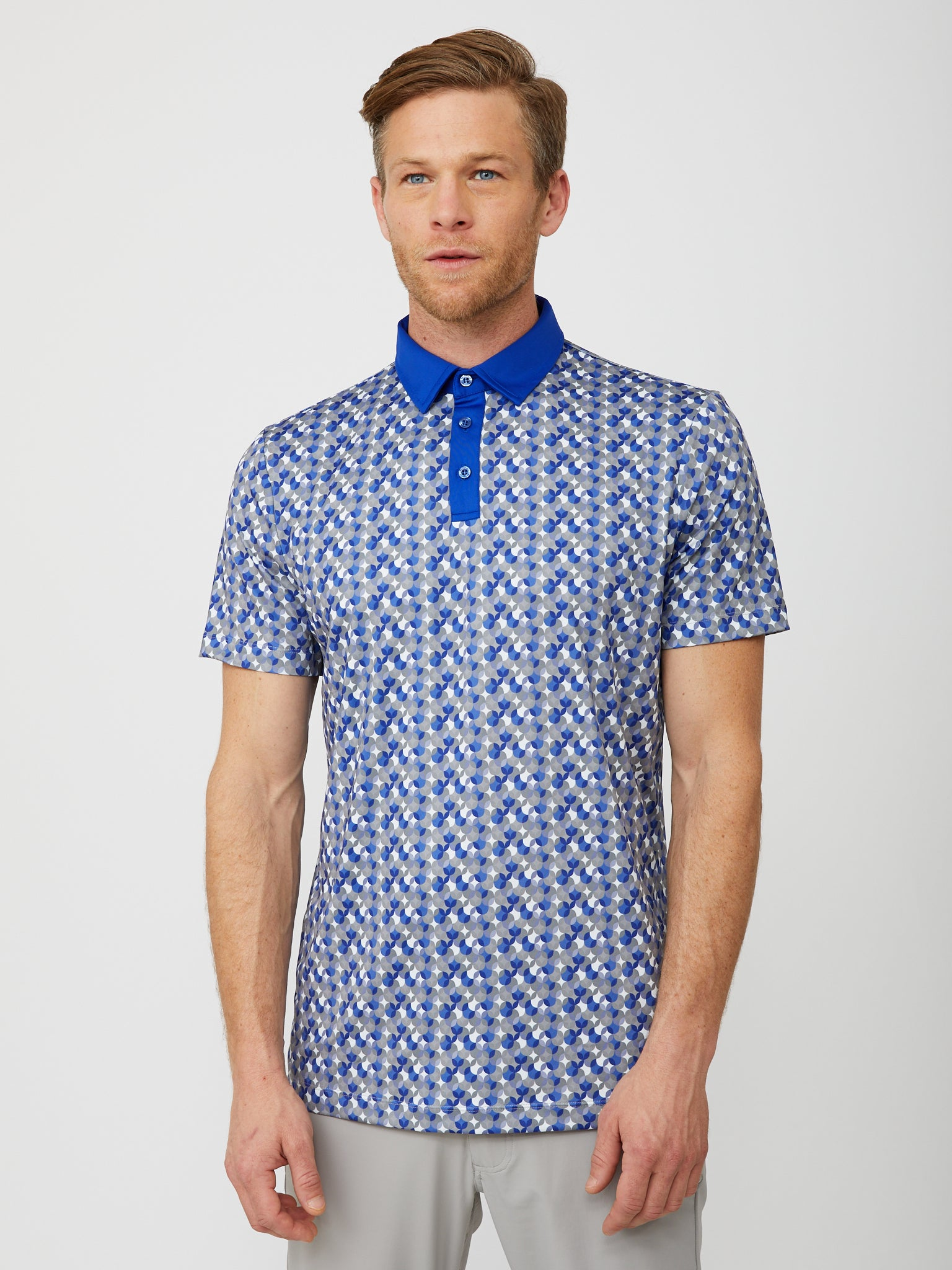 Exeter Polo in Reflex Blue/Multi