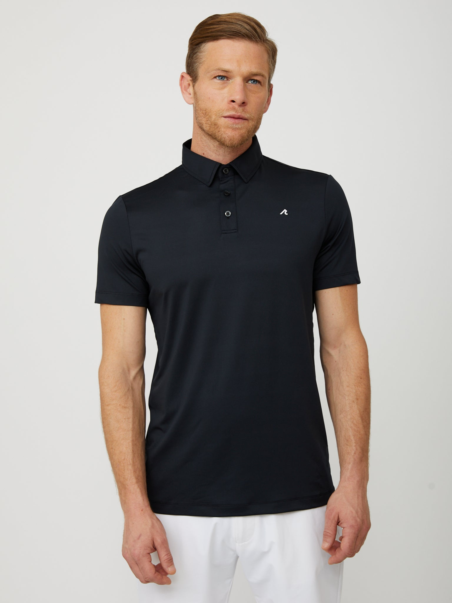 Degrom Polo in Black/White