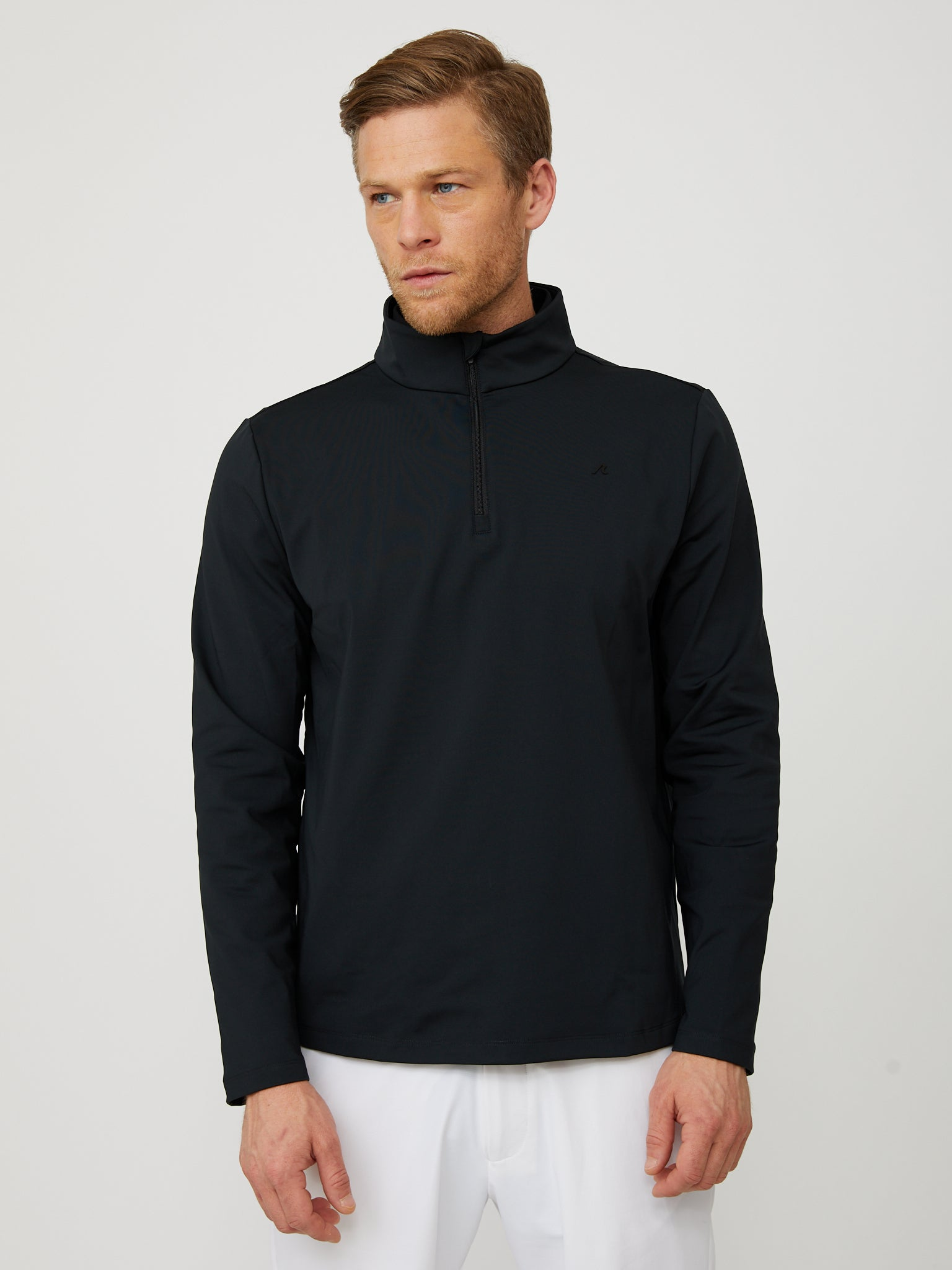 Costa Quarter Zip in Black