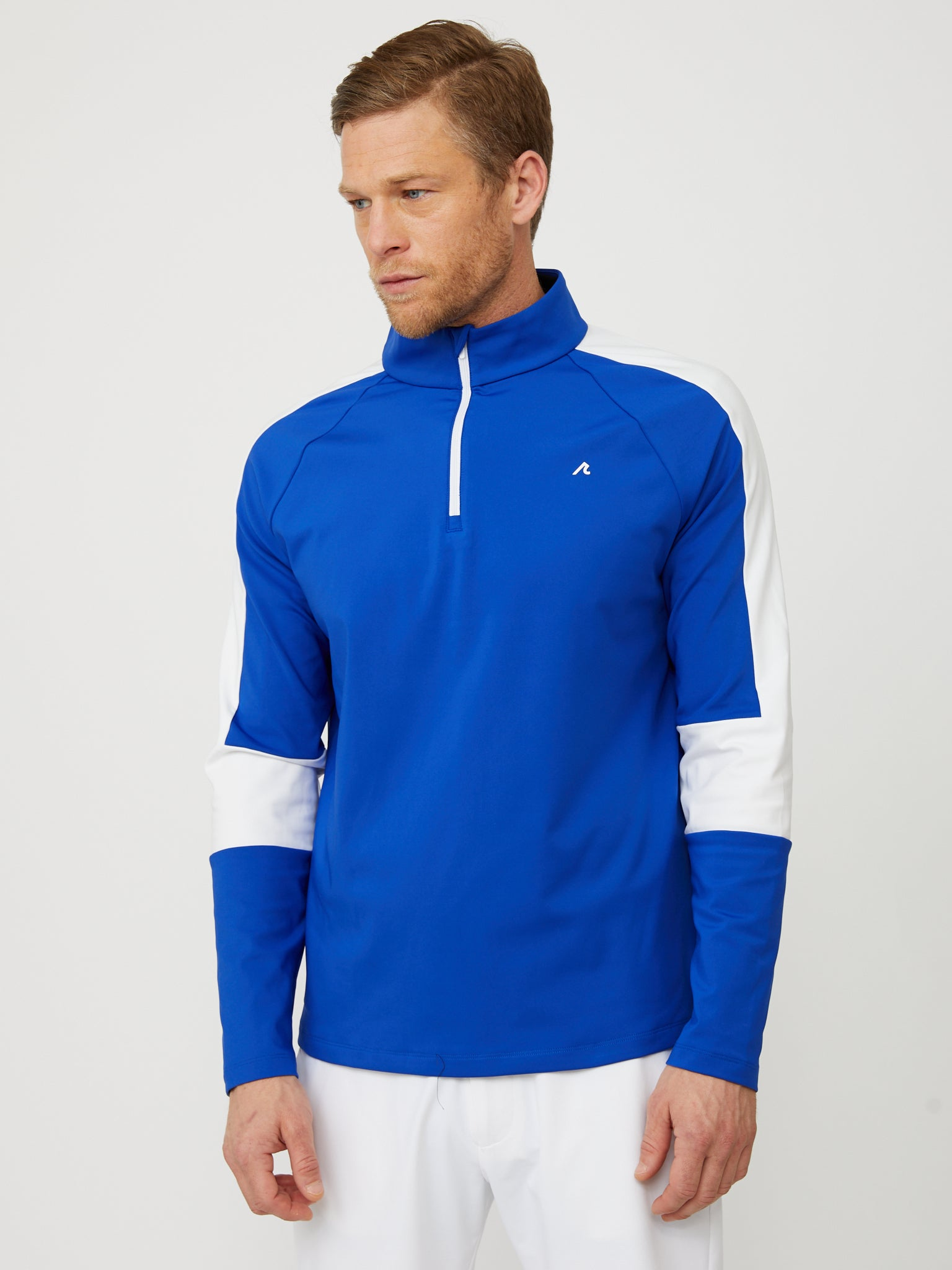 Fowler Quarter Zip in Reflex Blue/White