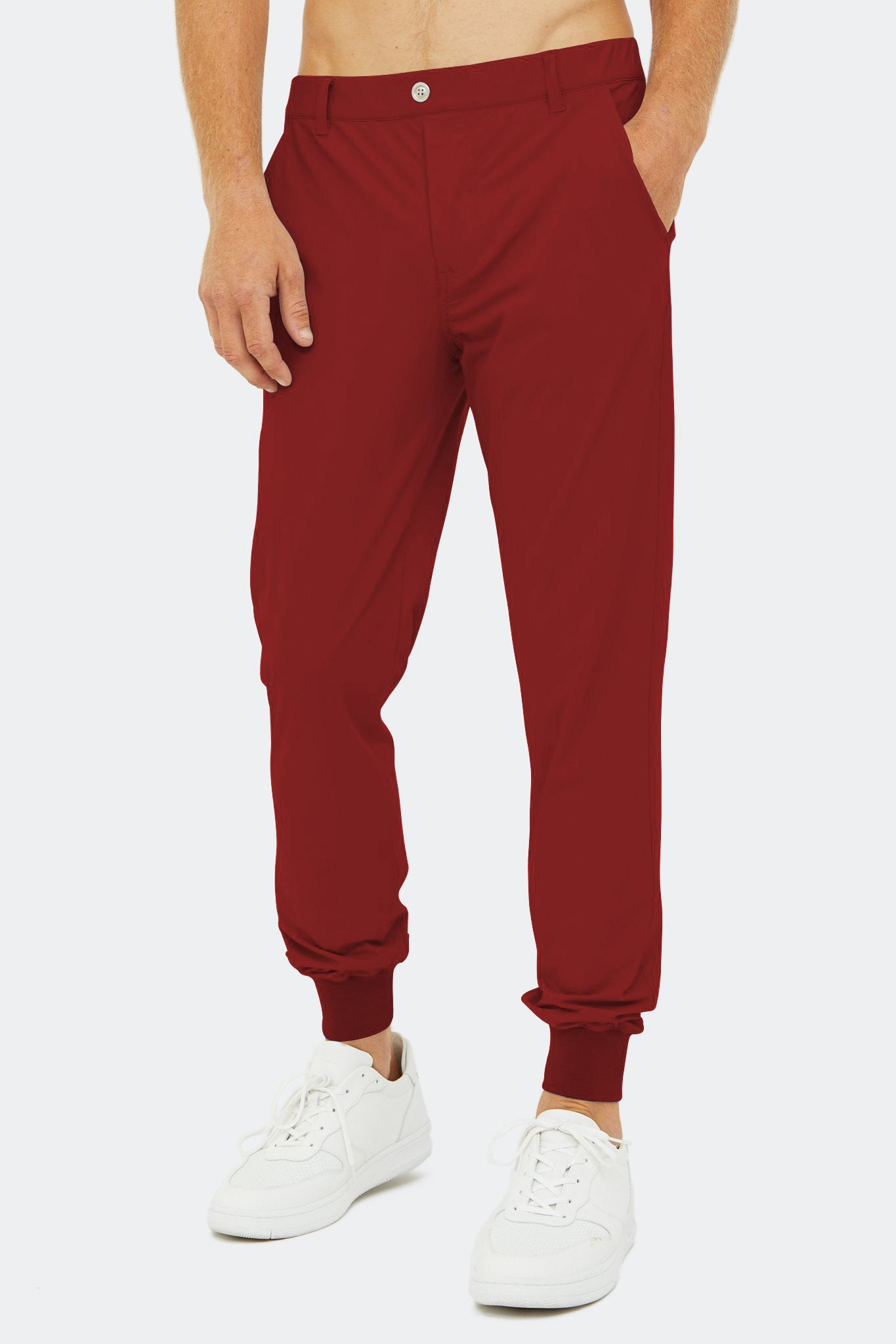 Halliday Pull-On Jogger in Maroon