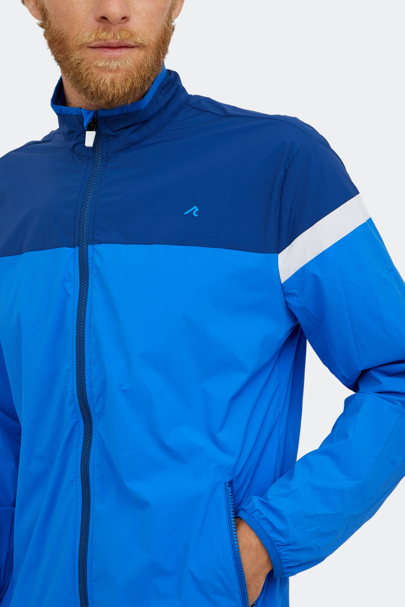Clarion Windbreaker in Estate Blue/Multi