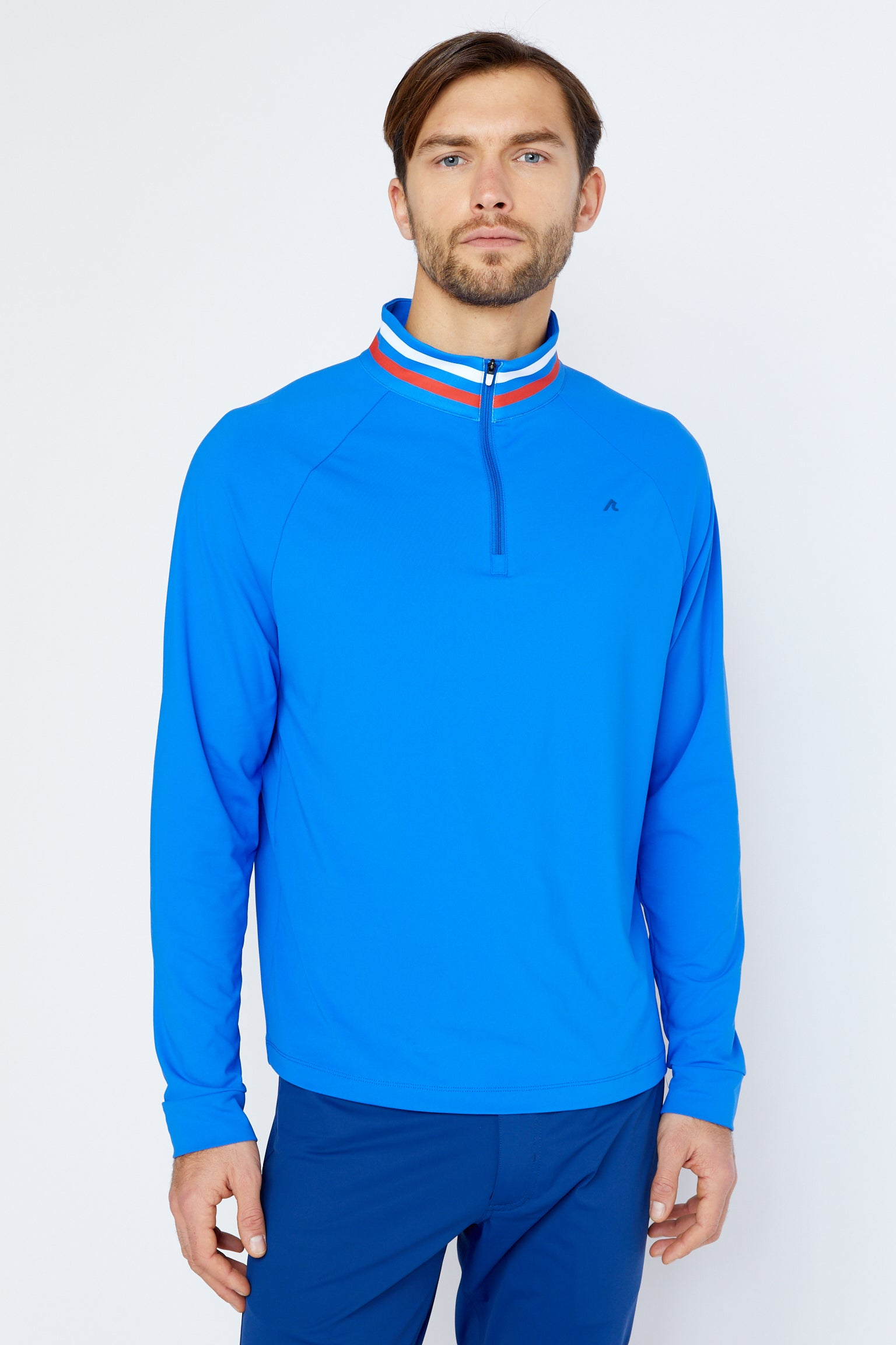 Alemany Quarter Zip in Victoria Blue