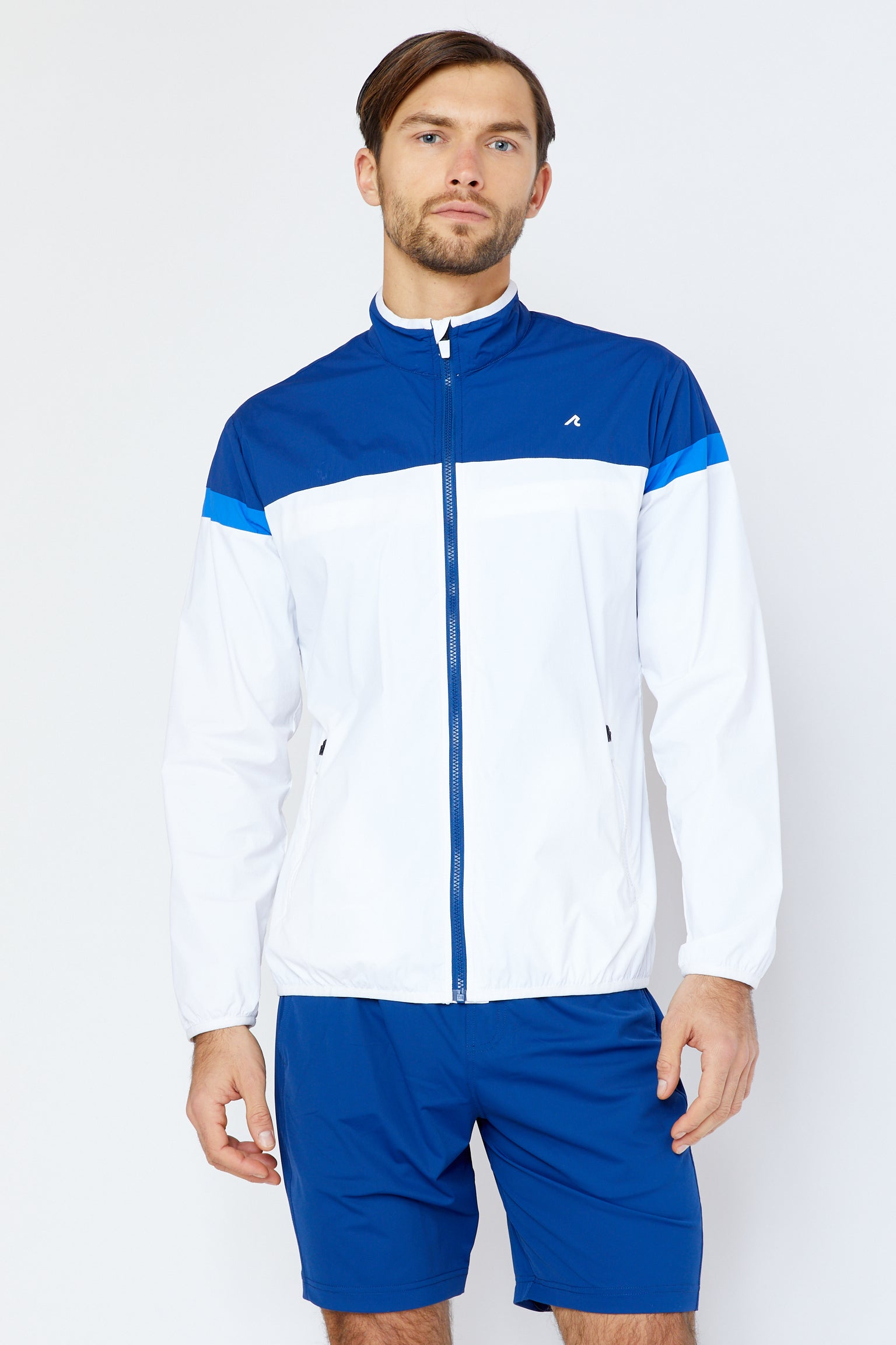Clarion Windbreaker in White/Multi