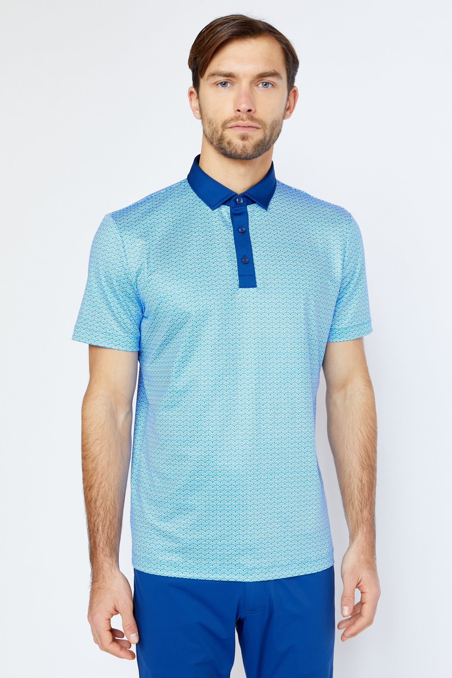 Folsom Polo in Victoria Blue