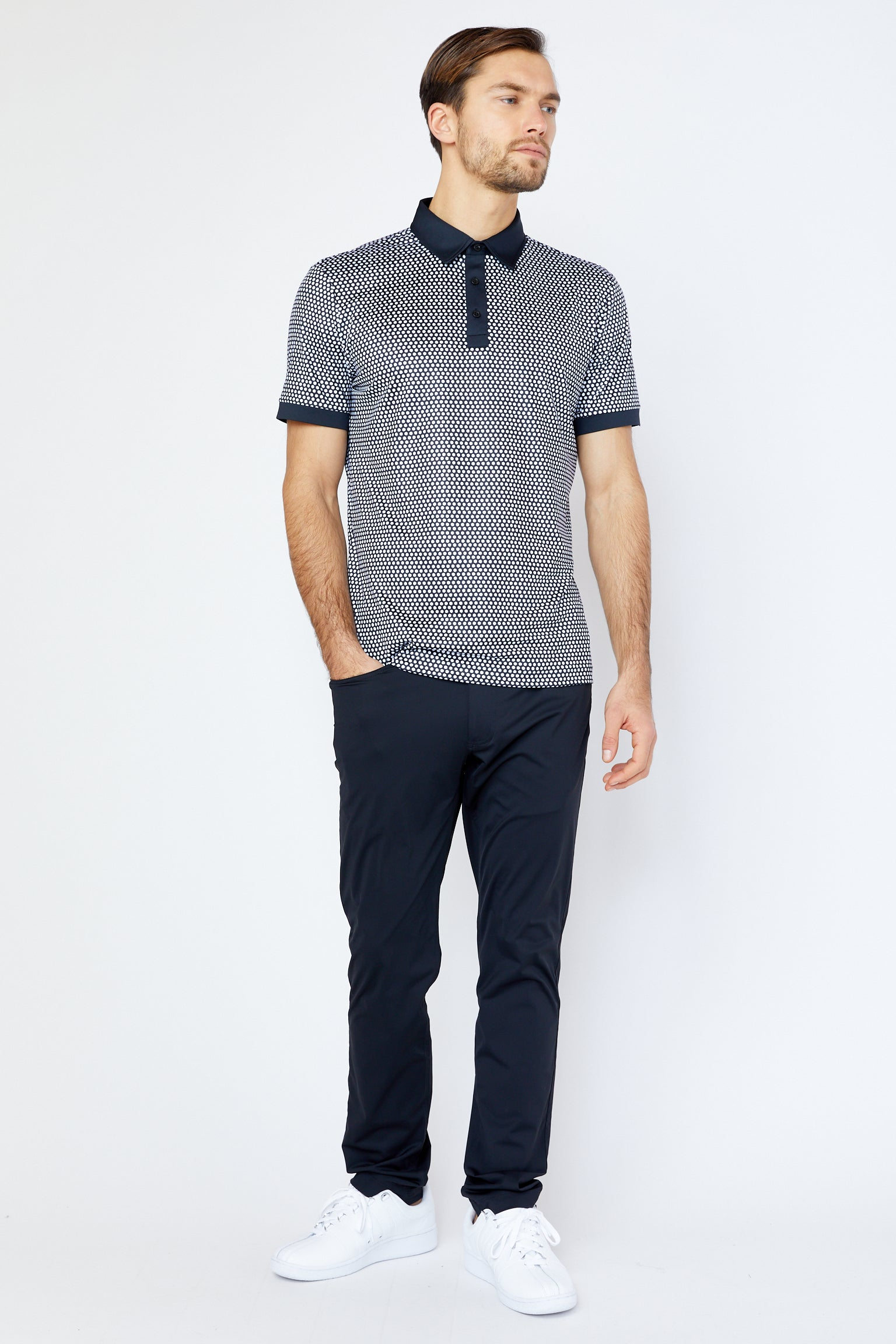 Powell Polo in Black/White