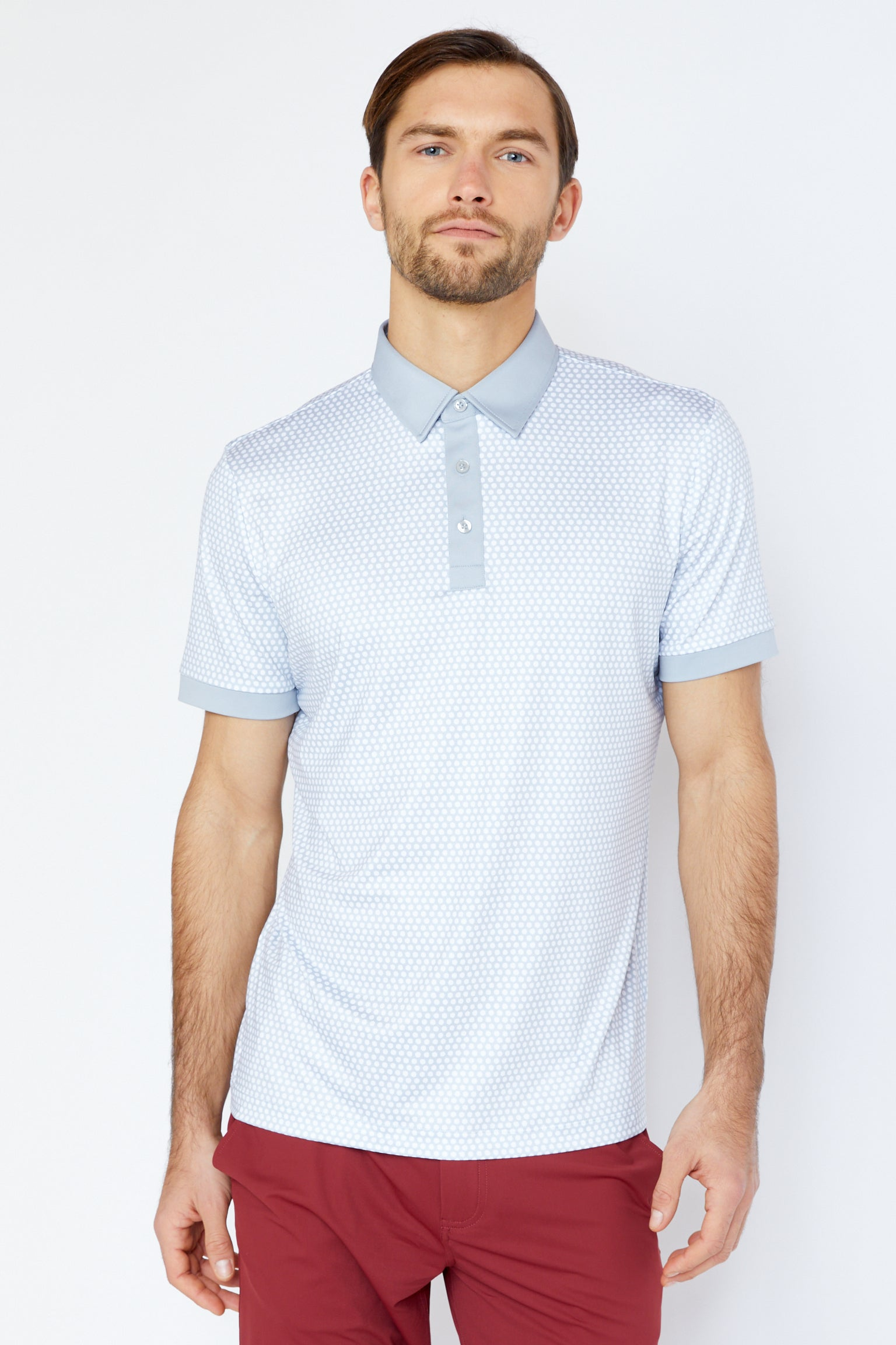 Powell Polo in Cool Grey