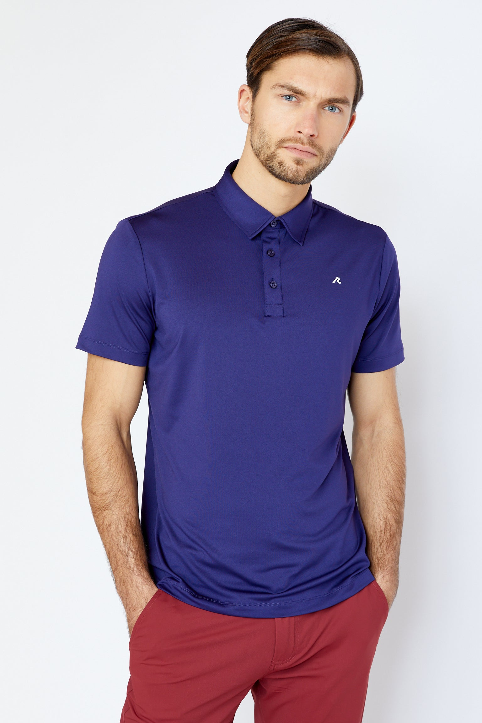 Stanyan Polo in Astral Aura/White