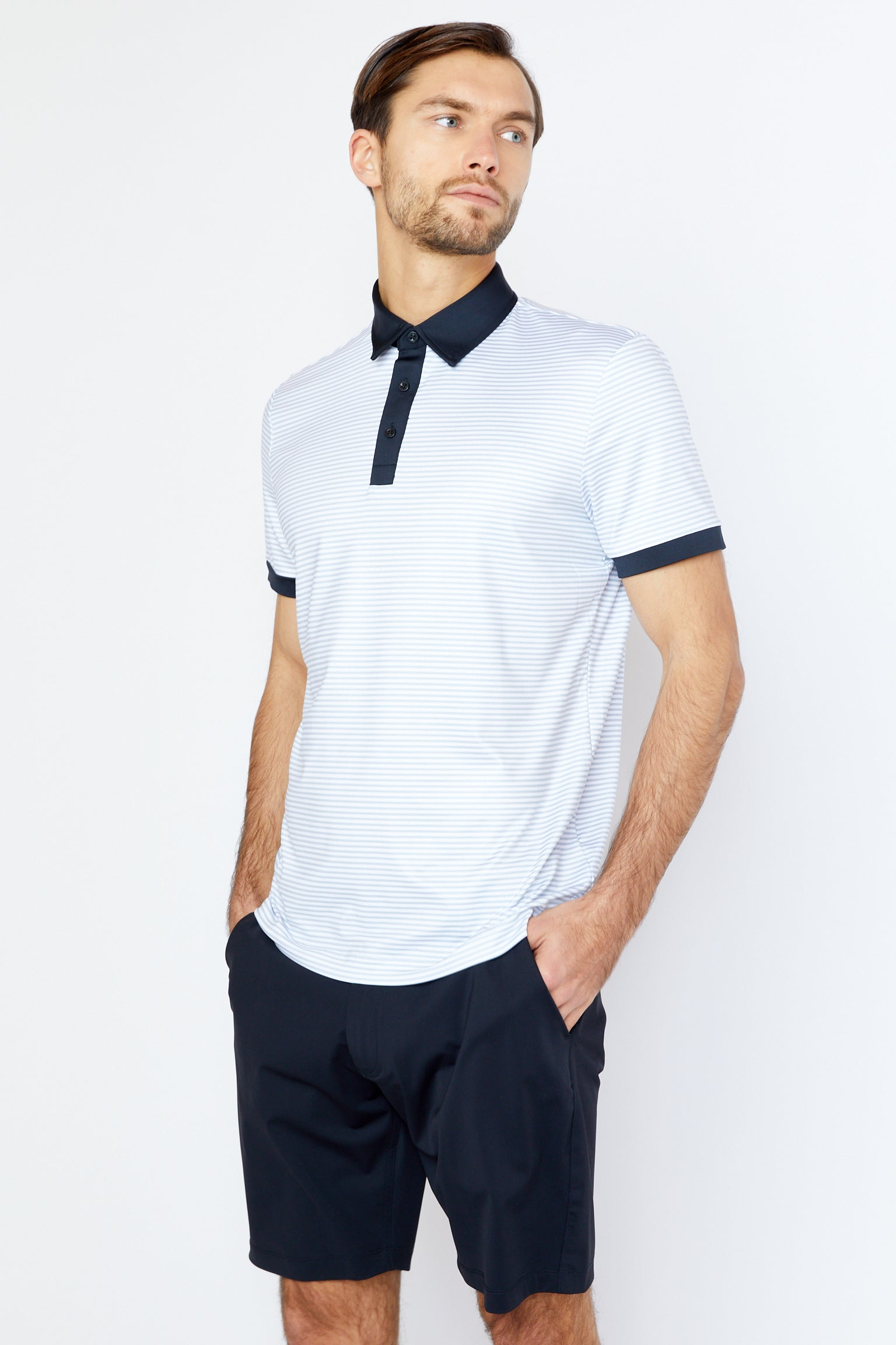 Filbert Polo in Cool Grey