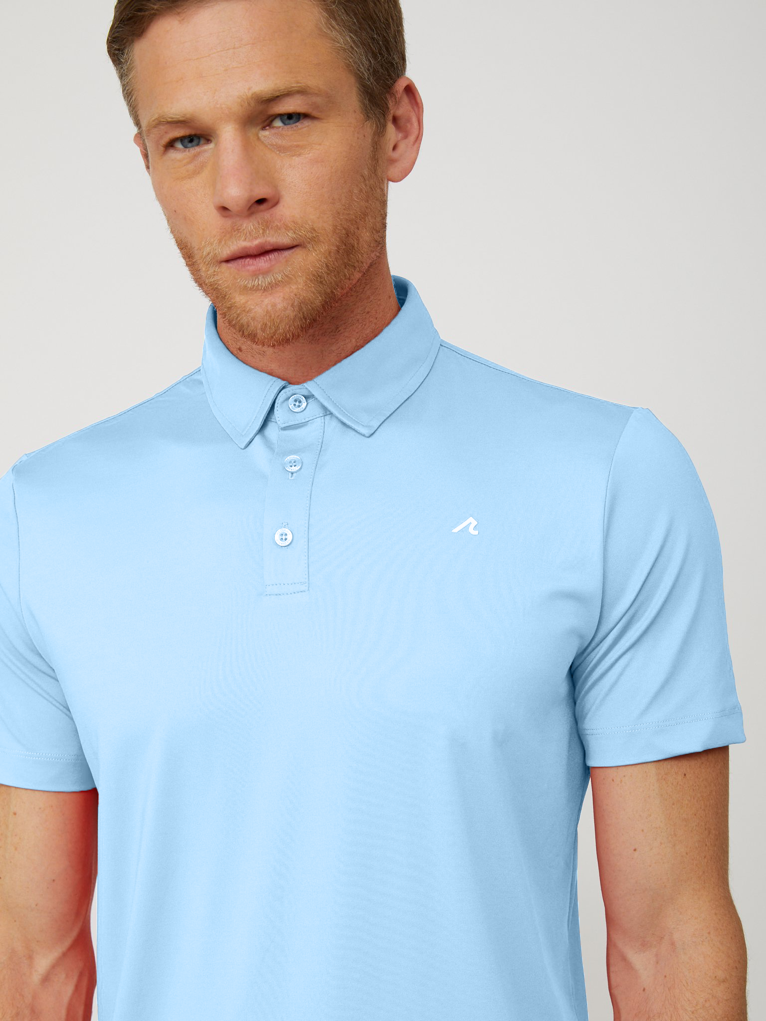 Degrom Polo in Placid Blue/White