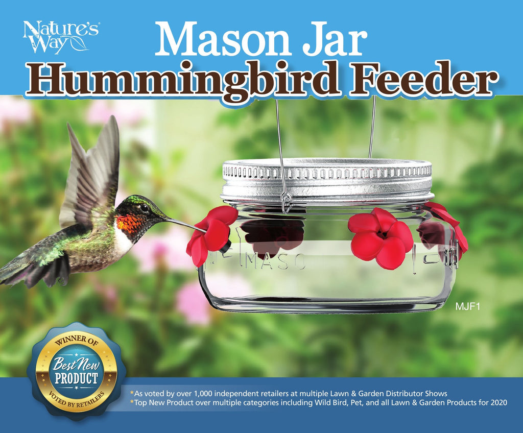 Healthy Hummingbird Feeder™ Made in USA Compact and Easiest to Clean Twin Pack