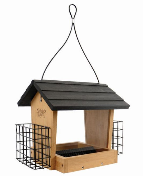 4 QT Hopper Feeder w/2 Suet Cages (Model# BWF16)