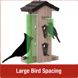 Large bird spacing for Nature's Way Vertical Mesh cedar bird Feeder