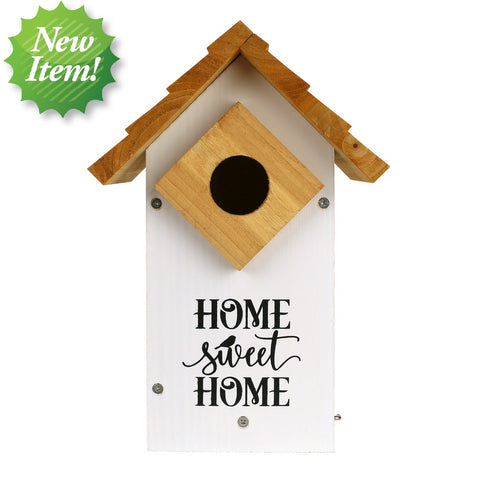 Wild Wings Farmhouse Bluebird House on white background