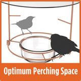 continuous perching ring allows for large bird spacing with optimum perching space on the Nature's Way Wire Oriole Feeder