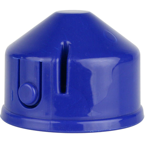 Blue squirrel resistant tube feeder base