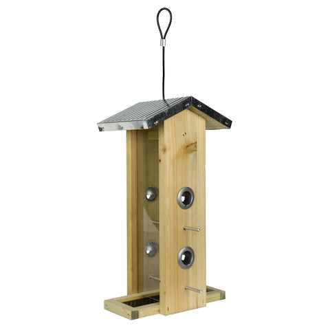 Galvanized Weathered Vertical Feeder (Model #WWGF1)