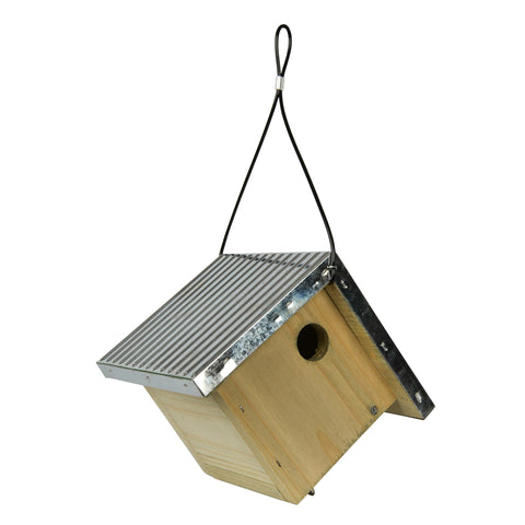 Wild Wings Galvanized Weathered Wren House on white background