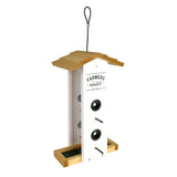 Side view of Nature's Way Wild Wings Farmhouse Vertical cedar bird Feeder