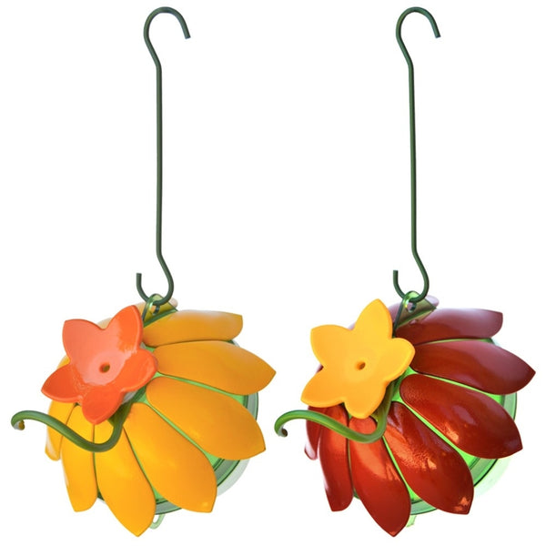 So Real Single Flower Hummingbird Feeder 2-Pack - Red/Yellow (Model# WWSFHF5)