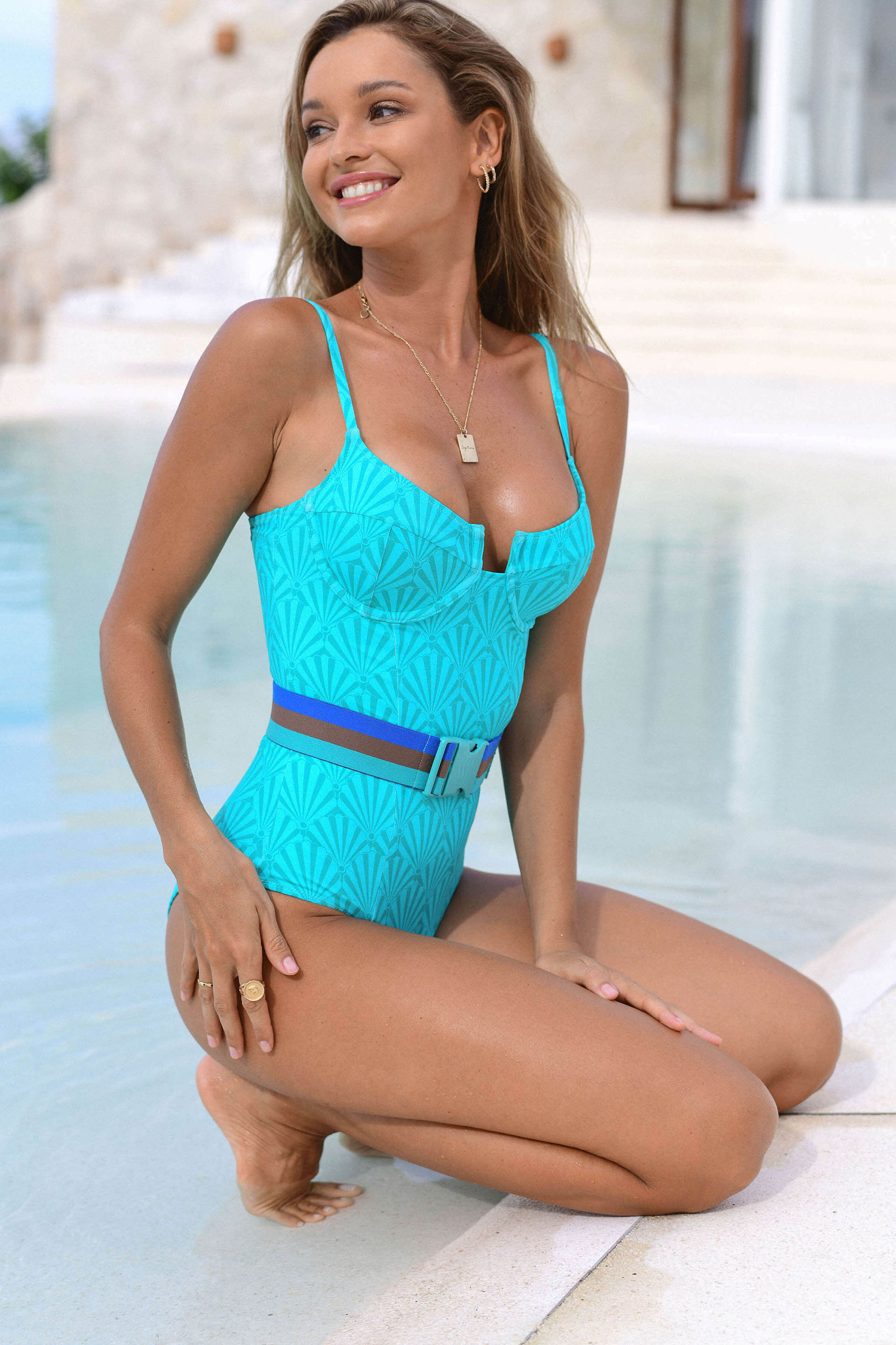 MONTEGO UNDERWIRE SHELL SWIMSUIT