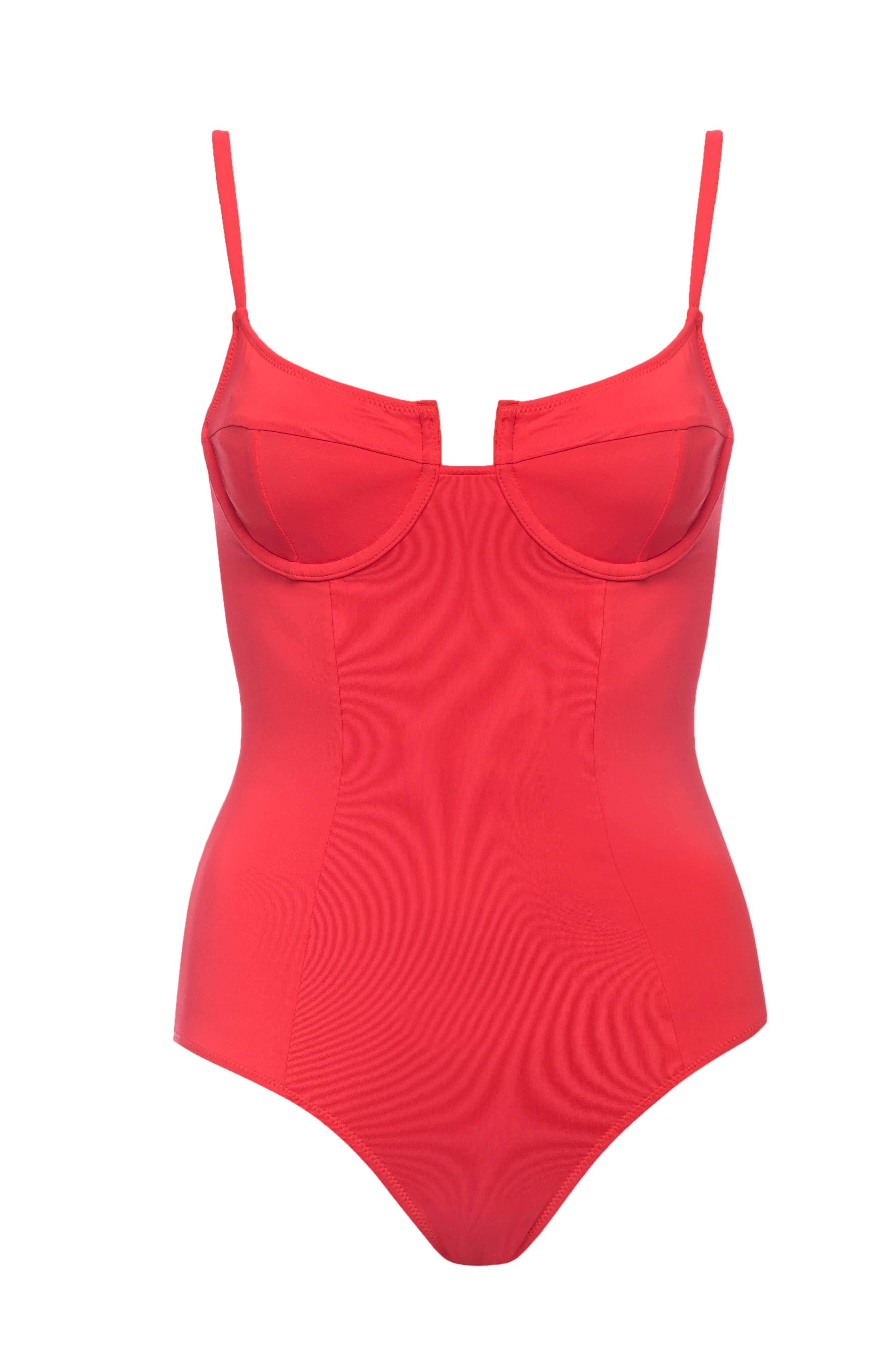 MONTEGO UNDERWIRE RED SWIMSUIT