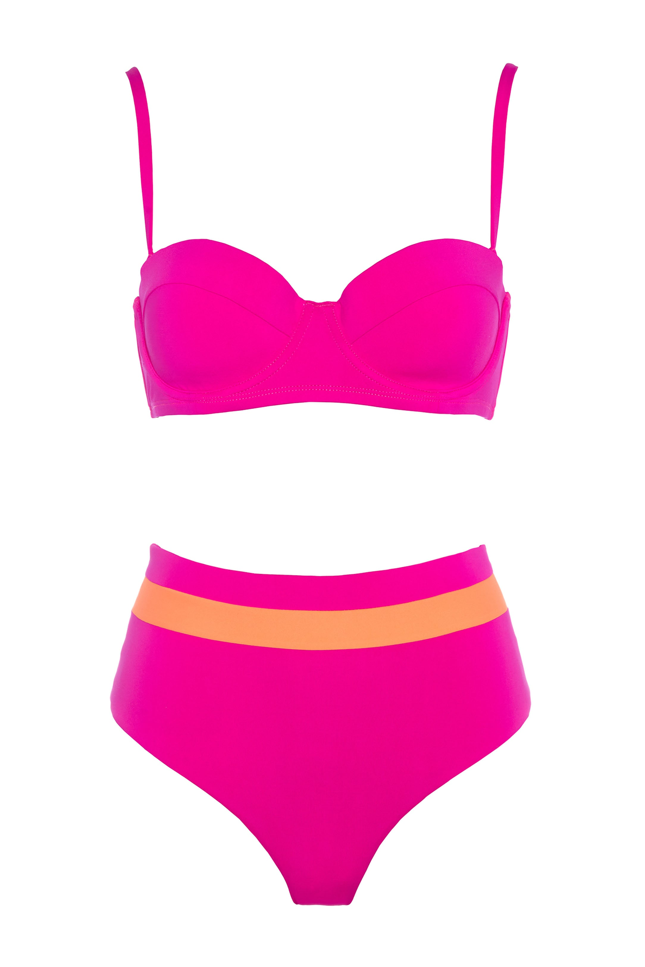 POOL PARTY BALCONETTE PINK BIKINI SET