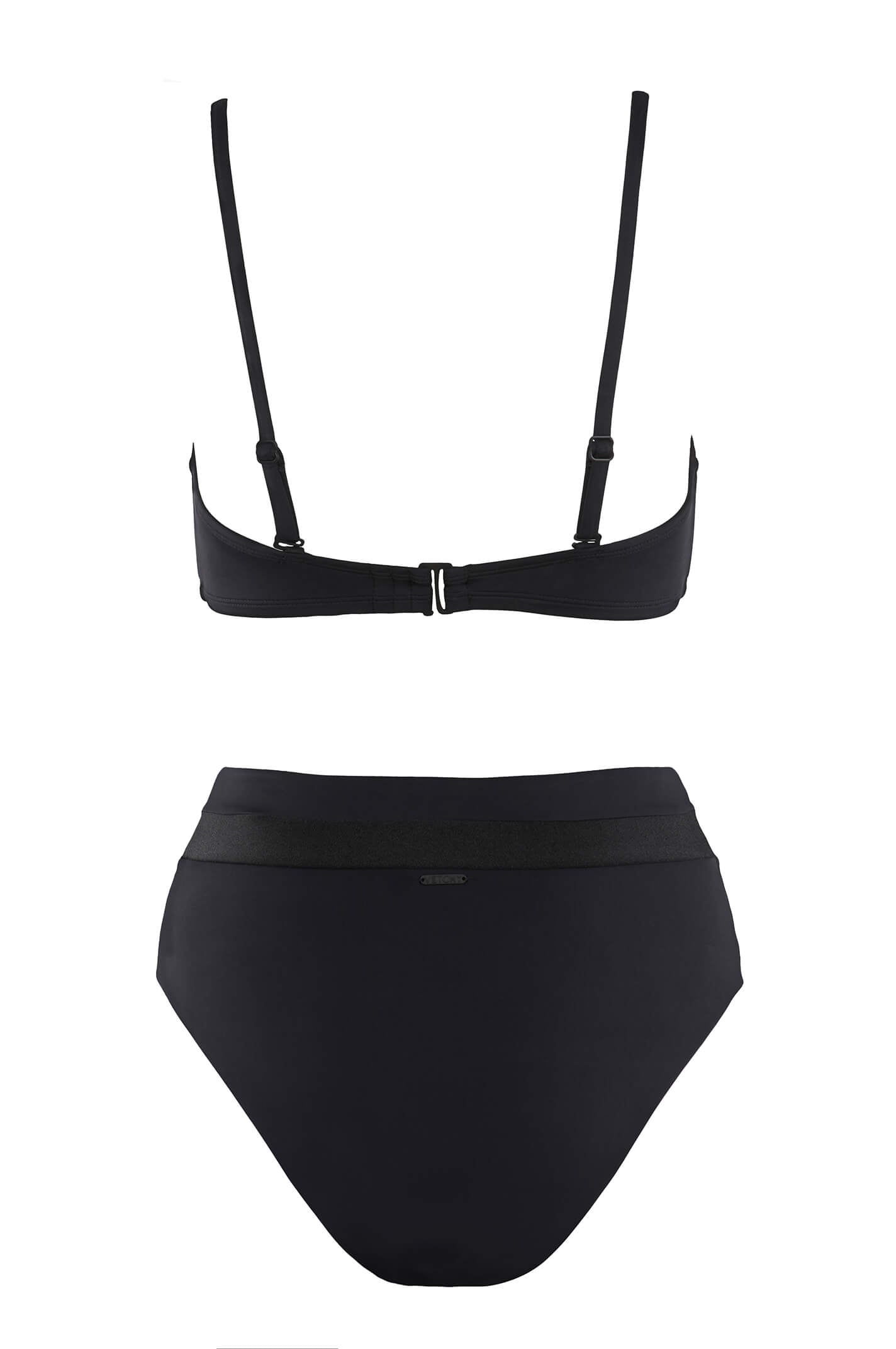POOL PARTY BALCONETTE BLACK BIKINI SET
