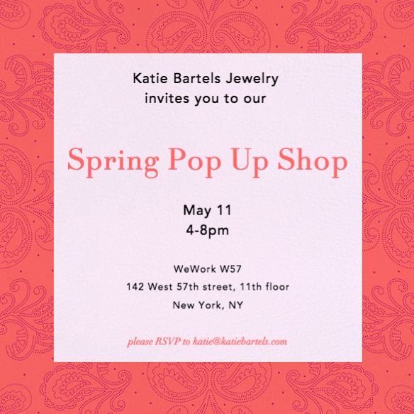 Jewelry Pop Up Shop in NYC