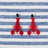 handmade womens red glitter lobster earrings katie bartels