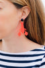 handmade womens neon red lobster earrings katie bartels