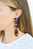 handmade designer womens long tortoise rajasthan earrings katie bartels