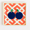 handmade womens navy circle drop earrings katie bartels