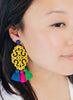 handmade designer womens yellow multicolor adna earrings katie bartels