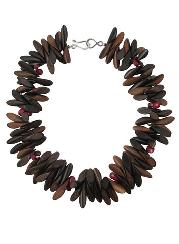 womens wood and ruby agra necklace katie bartels