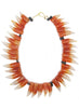 womens orange and white alex necklace katie bartels