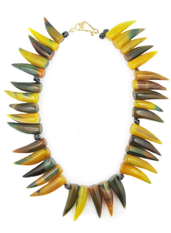 womens yellow and green alex necklace katie bartels
