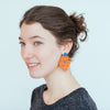 womens orange and turquoise amita earrings katie bartels