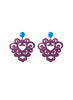 womens purple and turquoise amita earrings katie bartels