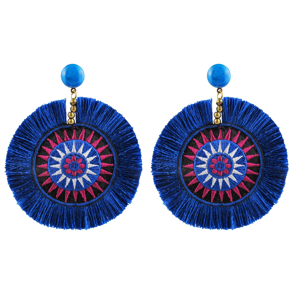 handmade designer womens blue azoulay earrings katie bartels