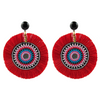 handmade designer womens red azoulay earrings katie bartels