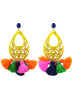 womens yellow and multicolor azza earrings katie bartels